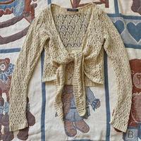 Made in England long sleeve crochet bolero
