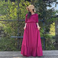 Vivid pink long dress