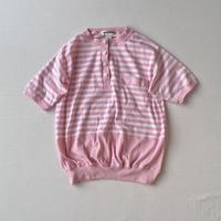 Pastel pink shell buttons shirt