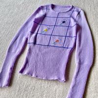 70s tight purple sweater