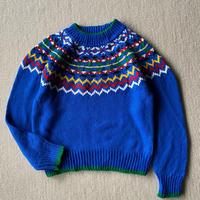 Vivid blue pop knit