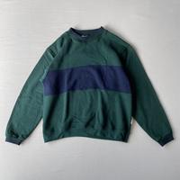 Green and navy sweatshirt