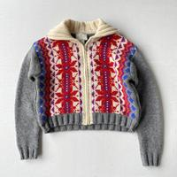 Nordic zip up knit