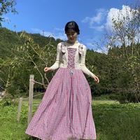 Tyrolean plaid dress