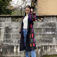 【SALE】Colorful long knit cardigan