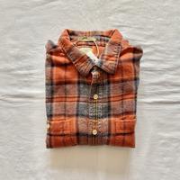Made in India orange plaid shirt