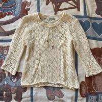 90s CANDA crochet pull over
