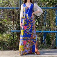 African batik lace sleeve long dress
