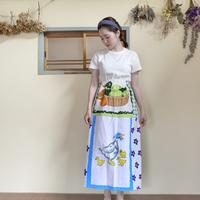 【Sale】Vintage fabric patchwork remake skirt Duck