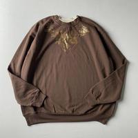 【SALE】Gold flower printed sweatshirt