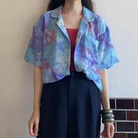 Pastel blue flower haori