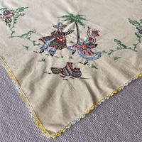 Vintage embroidery fabric