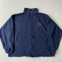 Made in USA Olympic fleece navy
