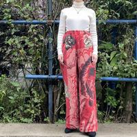 Handmade jacquard pants red