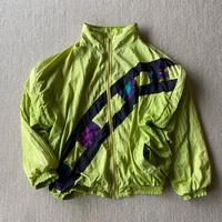 Neon color 2 way nylon jacket