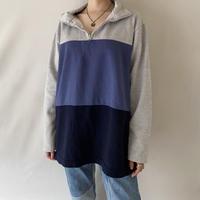 Short zip sweatshirt