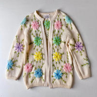 60s floral cardigan