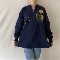 Made in USA Sunflower zip up
