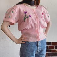 Pastel pink flower cardigan