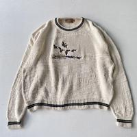 Made in USA Over size duck sweater