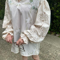 Embroidery tablecloth remake shirt