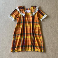 Plaid butterfly lace dress