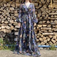Volume sleeve long dress