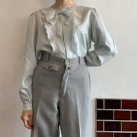 Pastel blue ribbon blouse