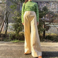 70s  yellow stripe pants