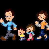 """""""歩く家族""""高解像度版 / family walking"""