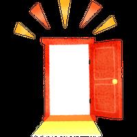 開いたドア 高解像度版 / open door