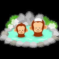 """""""温泉に入る猿""""高解像度版 / monkeys in hot spring"""