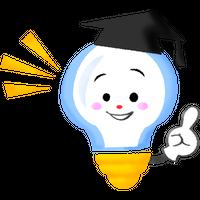 """""""豆電球キャラクター""""高解像度版 / light bulb character"""