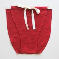 【harenchi】綿Wガーゼもっこふんどし赤 ラウンド2(女性専用)(HR-001-R2)