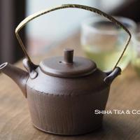 甚秋縞紋金属把小壺急須 Jinshu  Metal Top Handle small  Teapot Kyusu
