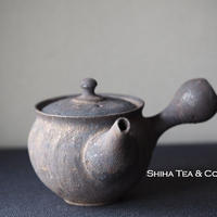 淳蔵黒金急須 Black&Gold Glazing Small Ceramic Kyusu Teapot