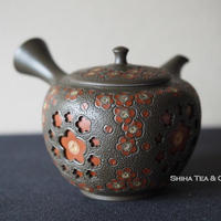 舜園  镂空 梅花壺急須 SHUNEN Double Wall Teapot Kyusu