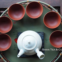 常滑烧北條昭和时代朱泥茶杯六件 HOKUJO red clay  6PCS