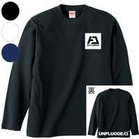 【再販】 3色展開 UNPLUGGED CAMP  ロンT 胸ボックスロゴ×背面下ロゴ 【自社出荷:宅急便コンパクト】
