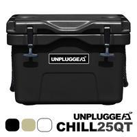一部予約 納期はカート横記載 特典ステッカー付 UNPLUGGED CAMP アンプラグドキャンプ オリジナルクーラーボックス CHILL 25 QT