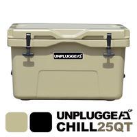 UNPLUGGED CP アンプラグドキャンプ オリジナルクーラーボックス CHILL 25 QT タン サンドベージュ