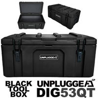 耐荷重90kg 防水 保証180日 50L ツールボックス DIG (ディグ) アンプラグドキャンプ UNPLUGGED CP