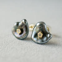 Tahitian pearl earrings / Polygon / Dia