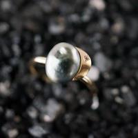 Tahitian pearl ring / Crescent / Dia