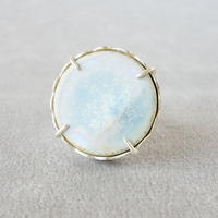 Vintage tile ring / Circle / Light blue