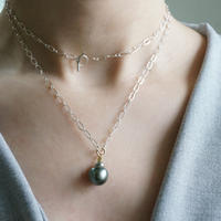 Tahitian pearl necklace/mantel/sv_chain