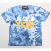 MORE BEER TYPE2 LOGO KID'S TEE(OCEAN MARBLE)