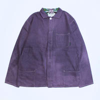 "A HOPE HEMP × JAVARA ""HEMP LINE""  FLY FRONT SHIRTS JKT(PURPLE)"