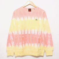 JAVARA「BORDER CREW NECK SWEAT(ORANGE+YELLOW)」