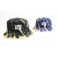 MORE BEER「CLASSIC LOGO BUCKET HAT (RASEN BLEACH)」